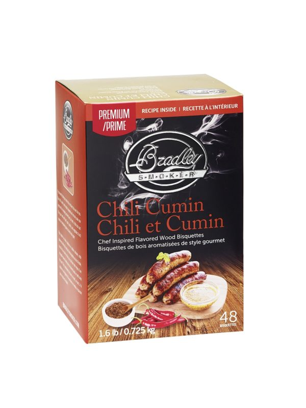 Bradley udící briketky Premium Chili Cumin 48ks - Gril-Zahrada.cz